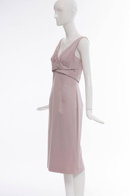 Alexander McQueen Sleeveless Cotton Lilac Dress, Spring 2006 For Sale 4