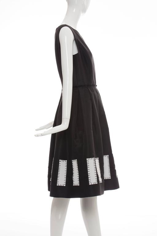 Oscar De la Renta Sleeveless Black Silk Faille Dress, Spring 2006 3