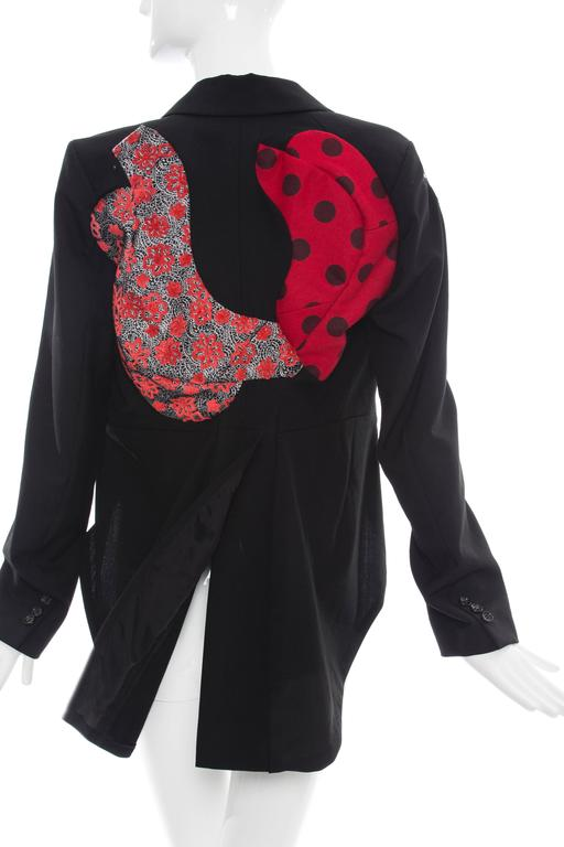 Comme des Garcons Black Wool Patchworked Brocades Jacket, Spring 2010 For Sale 1