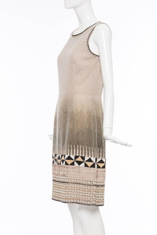 Oscar De la Renta Silk Fully Beaded Embroidered Sleeveless Dress, Spring 2008 4