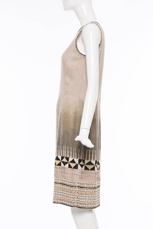 Oscar De la Renta Silk Fully Beaded Embroidered Sleeveless Dress, Spring 2008 2