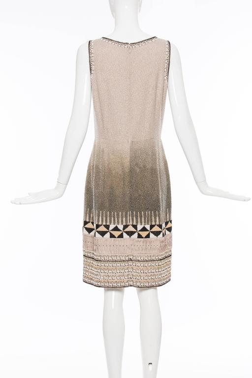 Oscar De la Renta Silk Fully Beaded Embroidered Sleeveless Dress, Spring 2008 3