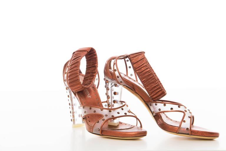 Women's Tom Ford for Yves Saint Laurent Sienna Metallic Sandal Fall, Circa 2003 For Sale