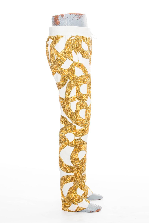 Versace Men's Chain Print Cotton Jogging Trousers For Sale ...