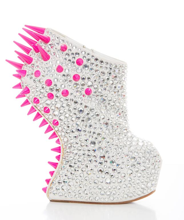 Guiseppe Zanotti Swarovski Crystal & Spike-Embellished Wedges Fall 2012 2