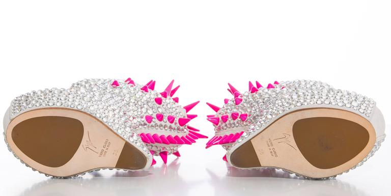 Guiseppe Zanotti Swarovski Crystal & Spike-Embellished Wedges Fall 2012 6