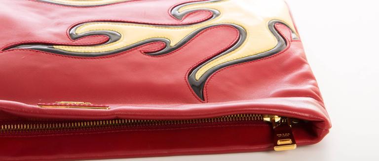 Prada Flame Clutch Spring 2012 For Sale 2