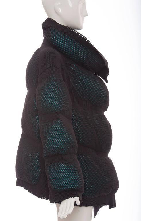 Issey Miyake Open Knit Overlay Puffer Coat, Autumn ...