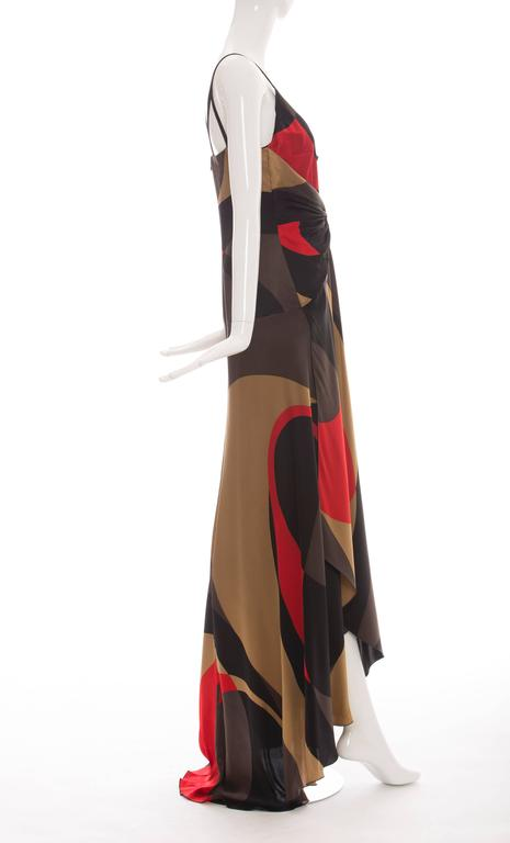 Valentino Printed Silk Evening Dress   For Sale 1