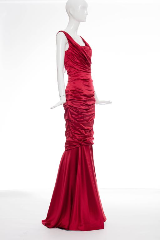 Dolce & Gabbana Red Silk Evening Dress 2