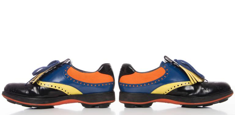 bbdca216f3 store prada spring 2012 mens brogue golf shoes leather and mesh round toe  21887 0a9af