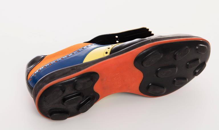 Prada Golf Shoes Patent Leather