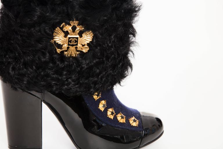 Chanel Paris-Moscow Metiers d'Art Patent Leather and Shearling Boots, Fall 2009 6