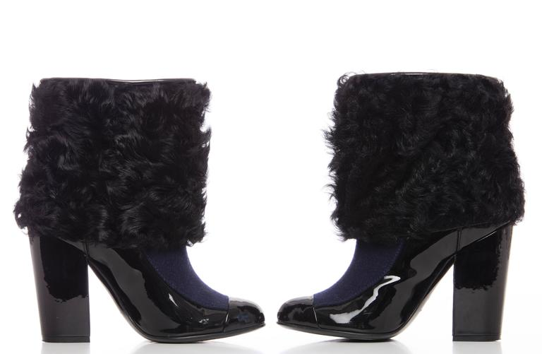 Chanel Paris-Moscow Metiers d'Art Patent Leather and Shearling Boots, Fall 2009 4