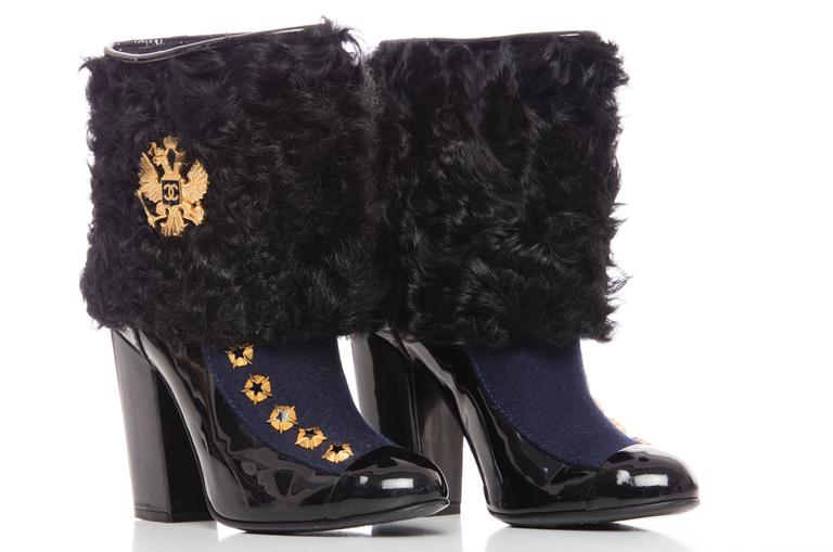 Chanel Paris-Moscow Metiers d'Art Patent Leather and Shearling Boots, Fall 2009 5