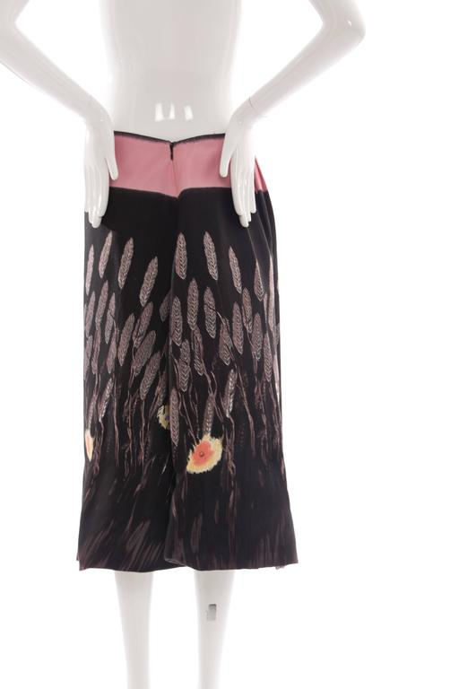 Black Prada Cotton - Silk Lightweight Skirt, Spring - Summer 1998 For Sale