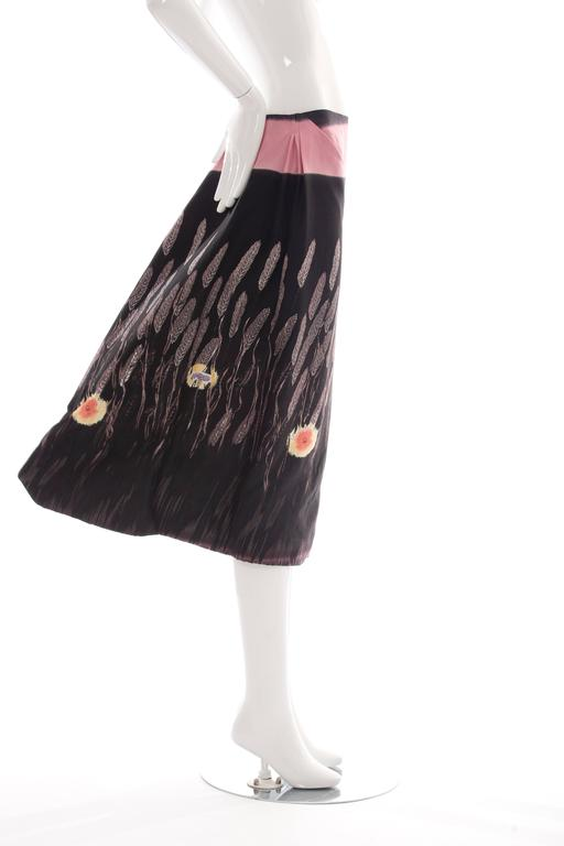 Prada Cotton - Silk Lightweight Skirt, Spring - Summer 1998 In Excellent Condition For Sale In Cincinnati, OH