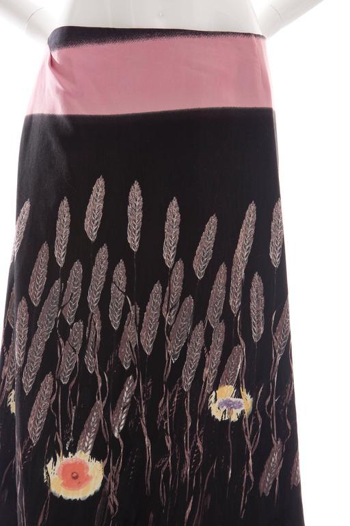 Women's Prada Cotton - Silk Lightweight Skirt, Spring - Summer 1998 For Sale