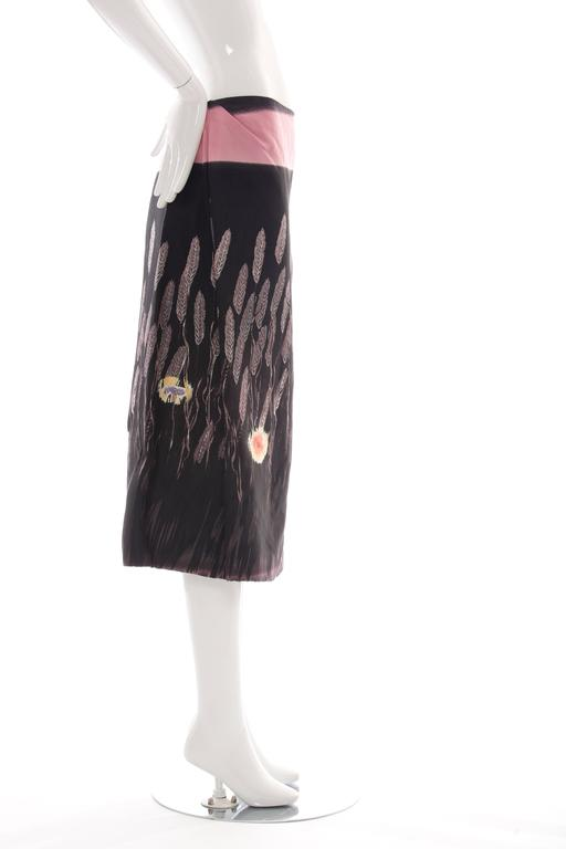 Prada Cotton - Silk Lightweight Skirt, Spring - Summer 1998 For Sale 1