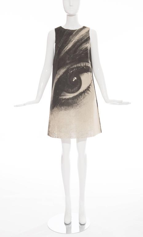 London Series Paper Dress Designed by Harry Gordon Mystic Eye, Circa 1960's 2