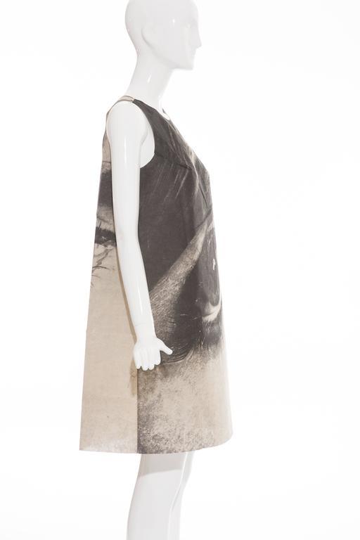 London Series Paper Dress Designed by Harry Gordon Mystic Eye, Circa 1960's 3