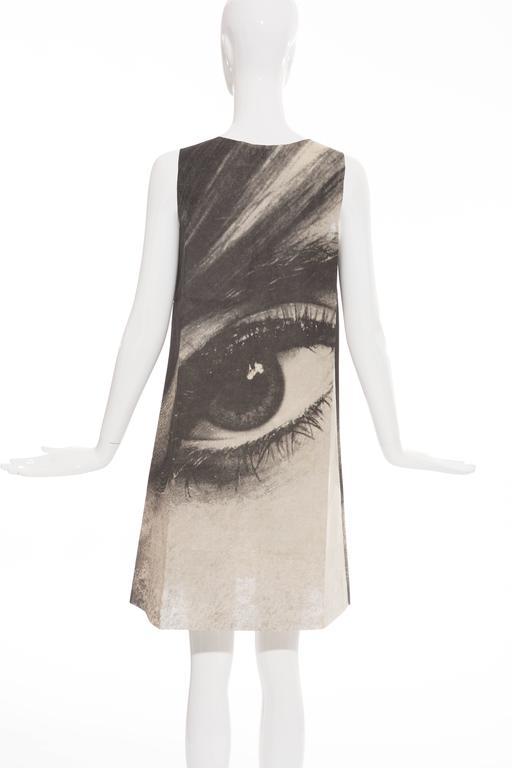 London Series Paper Dress Designed by Harry Gordon Mystic Eye, Circa 1960's 4