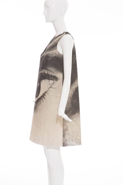 London Series Paper Dress Designed by Harry Gordon Mystic Eye, Circa 1960's 5
