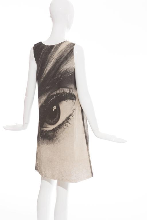 London Series Paper Dress Designed by Harry Gordon Mystic Eye, Circa 1960's 6