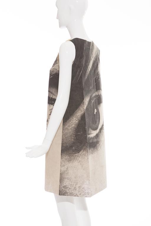 London Series Paper Dress Designed by Harry Gordon Mystic Eye, Circa 1960's 7