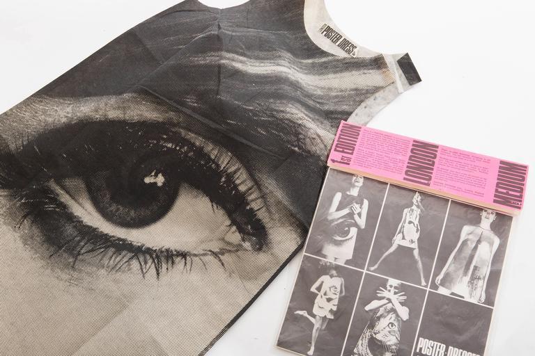 London Series Paper Dress Designed by Harry Gordon Mystic Eye, Circa 1960's 8