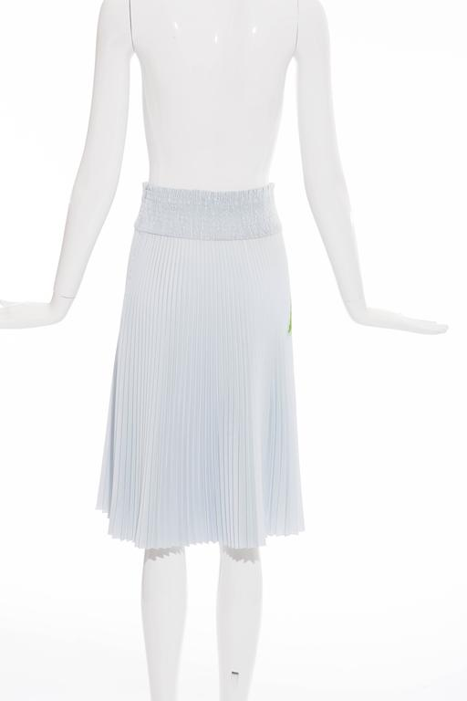 Prada Accordion Pleated Cadillac Car Print Skirt, Spring - Summer 2012 In Excellent Condition For Sale In Cincinnati, OH