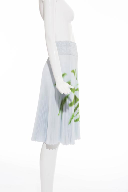 Women's Prada Accordion Pleated Cadillac Car Print Skirt, Spring - Summer 2012 For Sale