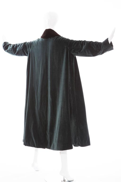 Romeo Gigli Cotton Velvet Swing Coat With Embellished Tassels, Circa 1980's For Sale 1
