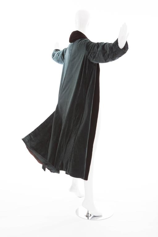 Romeo Gigli Cotton Velvet Swing Coat With Embellished Tassels, Circa 1980's For Sale 3