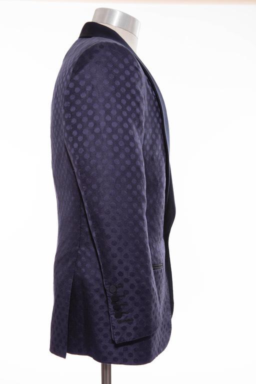 Tom Ford Men's Navy Blue Silk LInen Dinner Jacket, Spring - Summer 2012 2