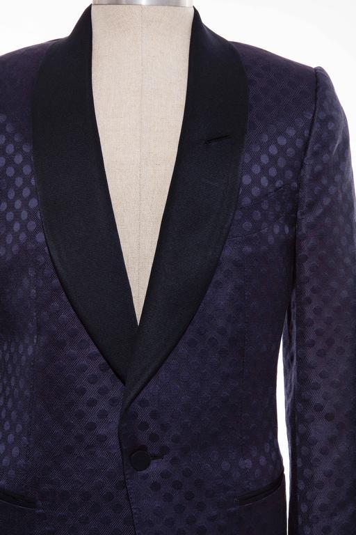 Tom Ford Men's Navy Blue Silk LInen Dinner Jacket, Spring - Summer 2012 5
