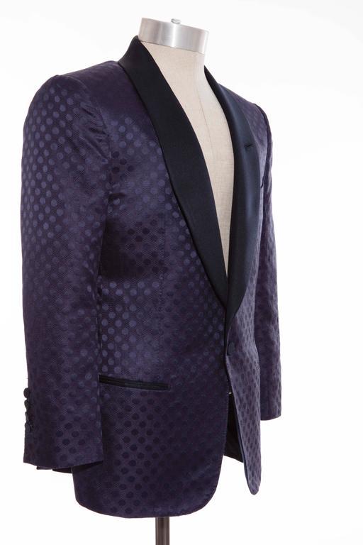 Tom Ford Men's Navy Blue Silk LInen Dinner Jacket, Spring - Summer 2012 4