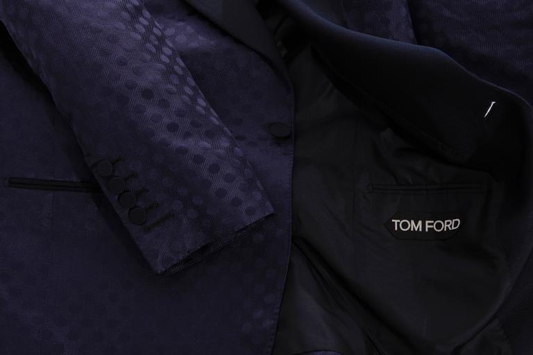Tom Ford Men's Navy Blue Silk LInen Dinner Jacket, Spring - Summer 2012 7