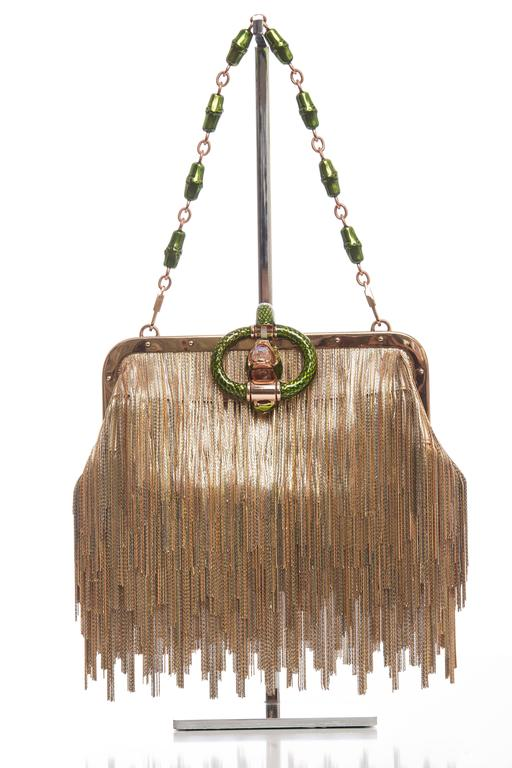 Tom Ford For Gucci Dragon Chain Fringe Evening Bag, Spring - Summer 2004 2