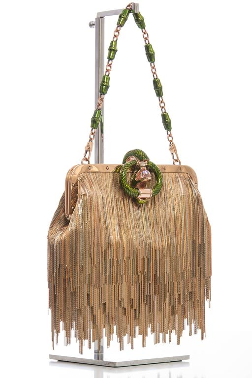 Tom Ford For Gucci Dragon Chain Fringe Evening Bag, Spring - Summer 2004 In Excellent Condition For Sale In Cincinnati, OH