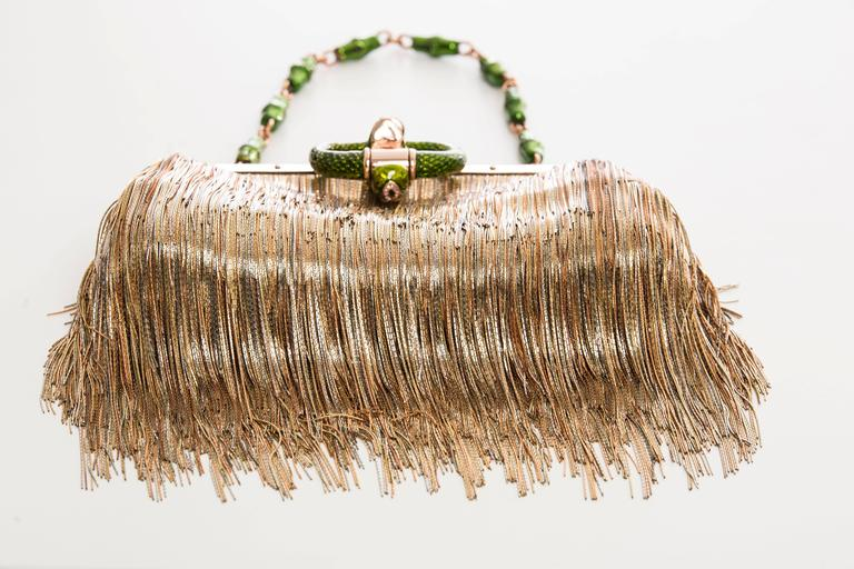 Tom Ford For Gucci Dragon Chain Fringe Evening Bag, Spring - Summer 2004 For Sale 2