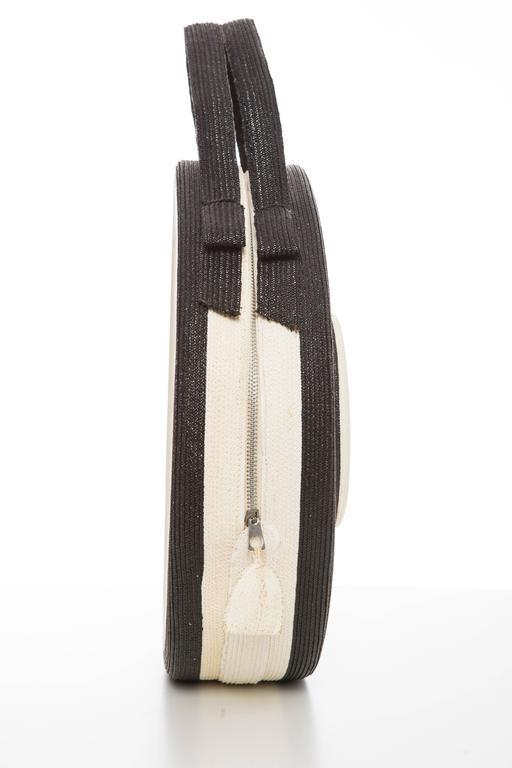 Women's Josef Italian Straw Bag, Circa 1950's For Sale