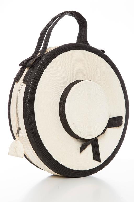 Josef Italian Straw Bag, Circa 1950's For Sale 1