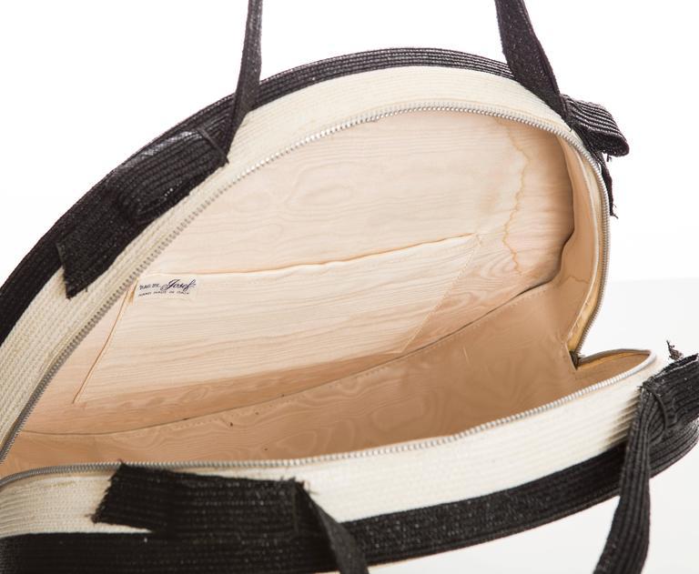 Josef Italian Straw Bag, Circa 1950's For Sale 2