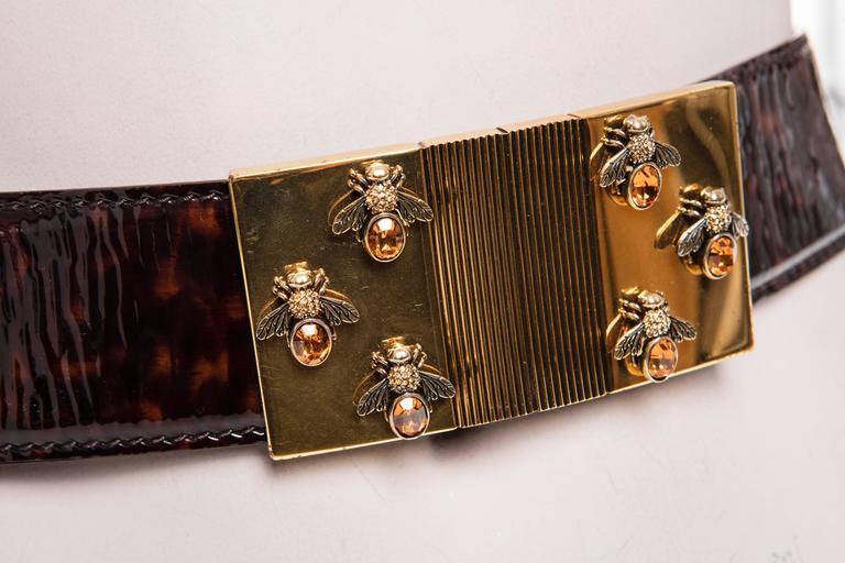 Alexander McQueen By Sarah Burton Patent Leather Tortoise Belt, Spring 2013 1