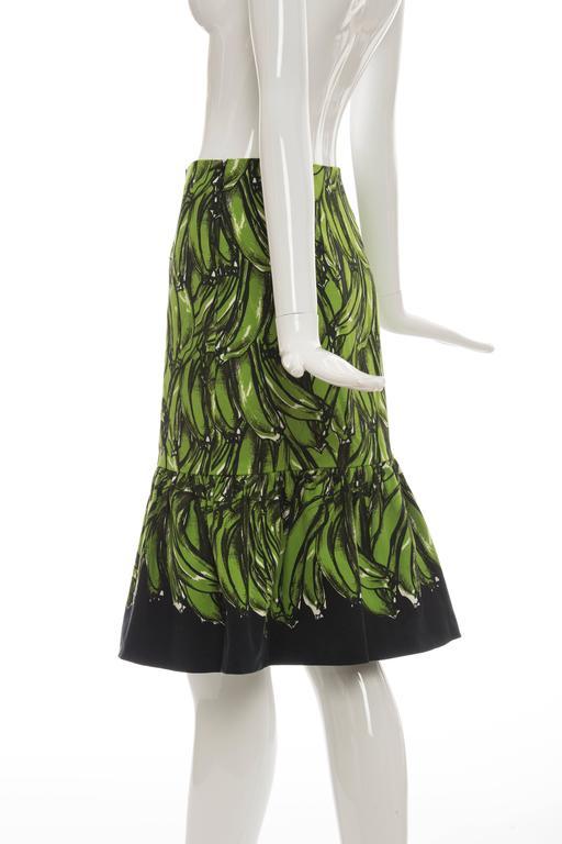 Prada Banana Print Skirt, Spring 2011 For Sale 1