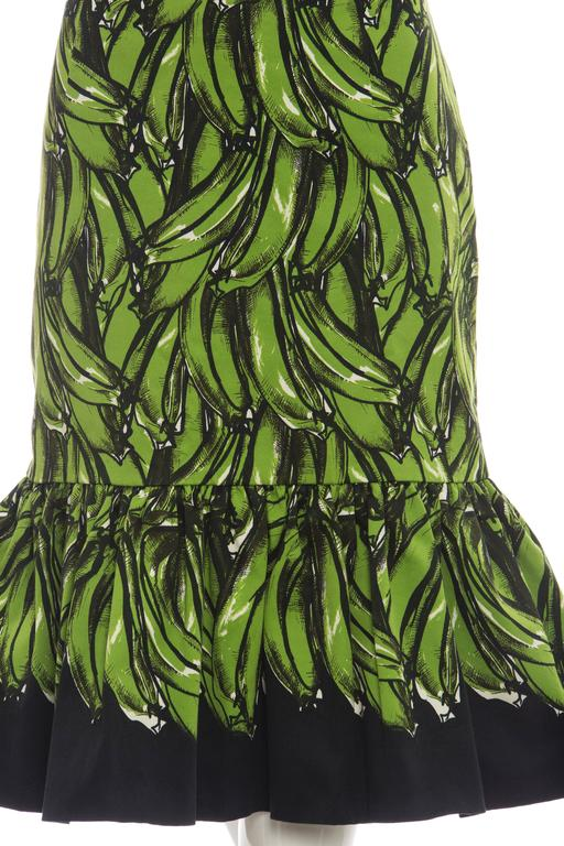 Prada Banana Print Skirt, Spring 2011 For Sale 2
