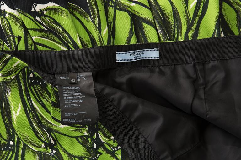 Prada Banana Print Skirt, Spring 2011 For Sale 3