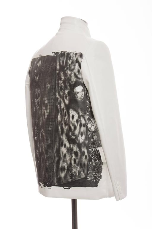 Gray Comme des Garcons Homme Plus White Blazer With Images By Roger Ballen, Fall 2015 For Sale