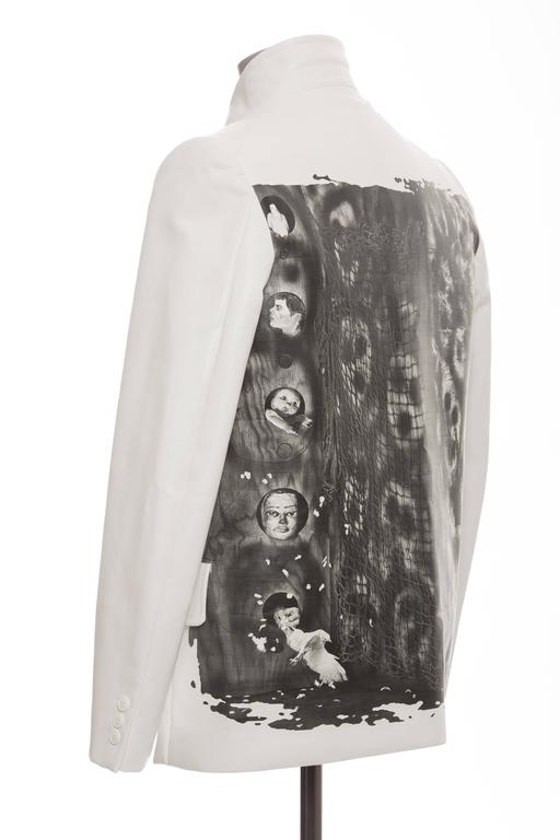 Comme des Garcons Homme Plus White Blazer With Images By Roger Ballen, Fall 2015 For Sale 3